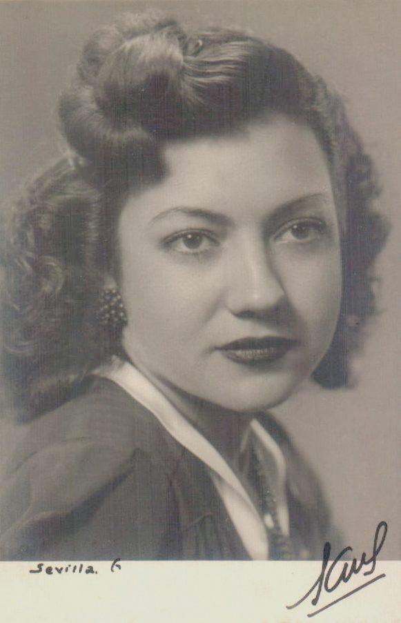 RETRATO MUJER - 1950