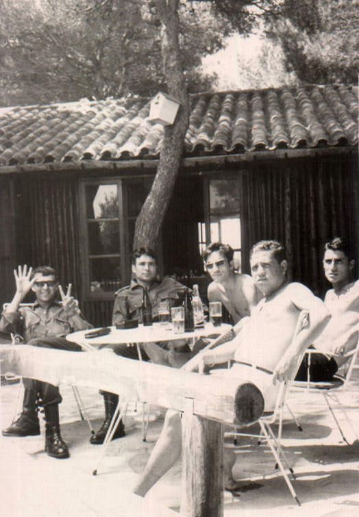 Compañeros de la mili (Pte. de los Ingleses – Can Picafort) – 1969