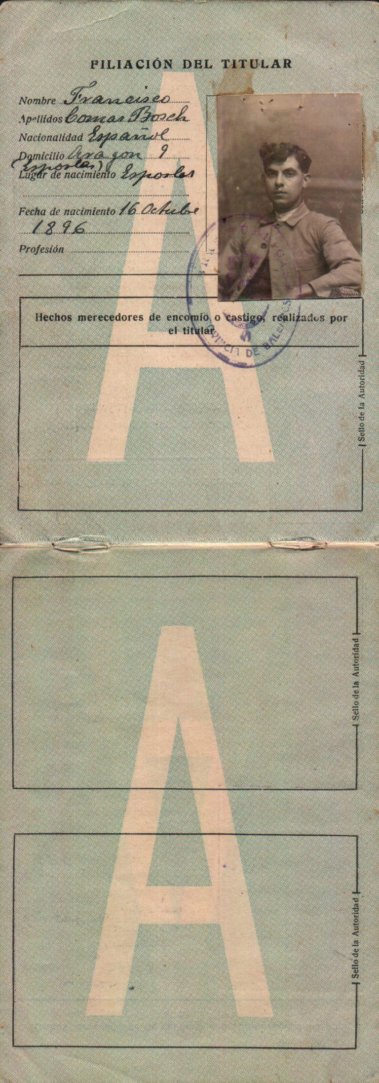 Carnet de conducir – 1927