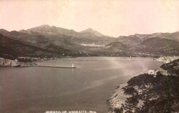 PAISAJE PUERTO ANDRATX - 1900