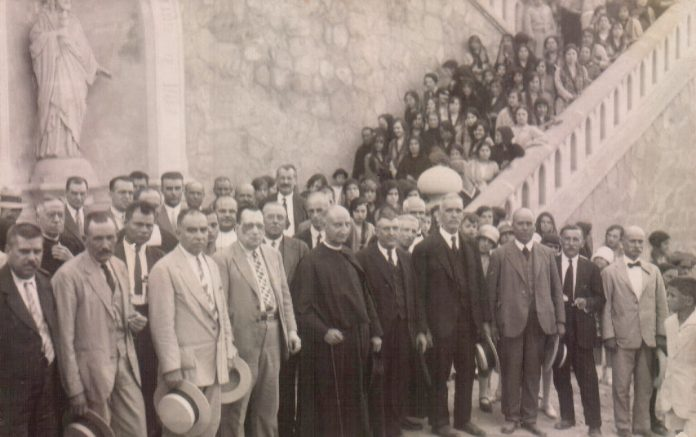 INAUGURACION CORAZON DE JESUS Y ESCALERA PARROQUIA - 1926