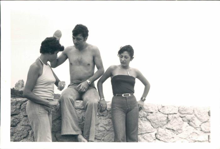 En la playa de Sa Calobra – 1970