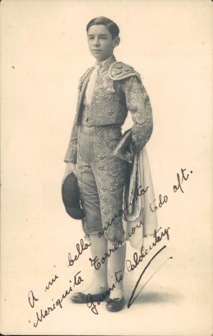 Torero mallorquín Quinito Caldente – 1927