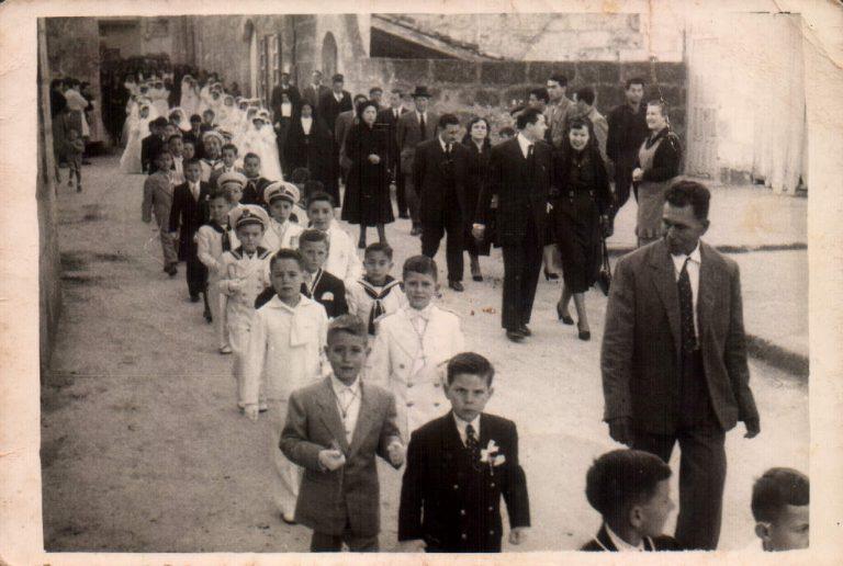Celebración anual primera comunión – 1952