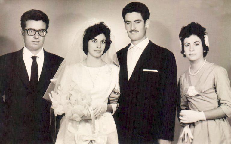 Boda, con los padrinos (Alhucemas) 1962