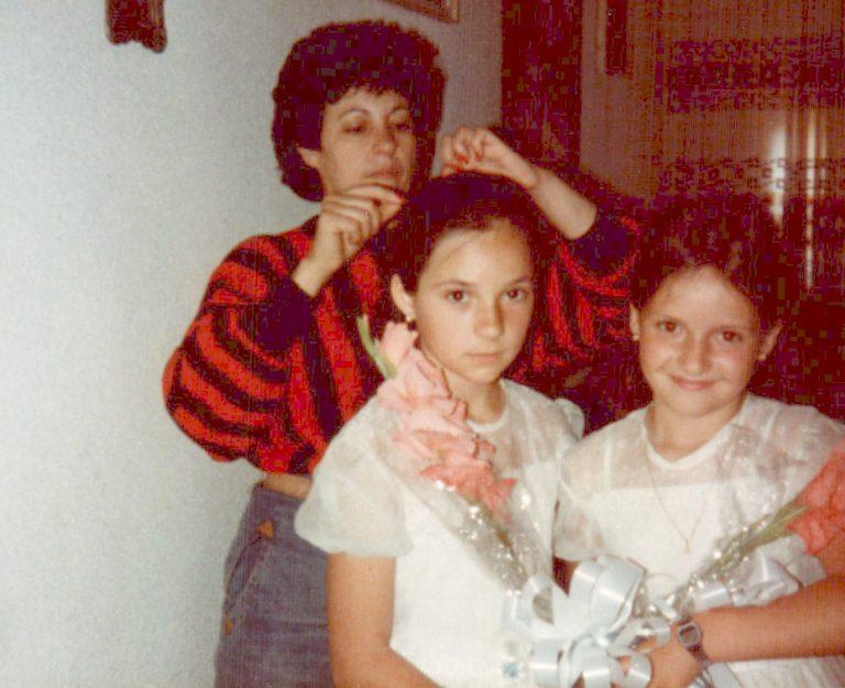 Preparativos comunión (Valencia) 1984