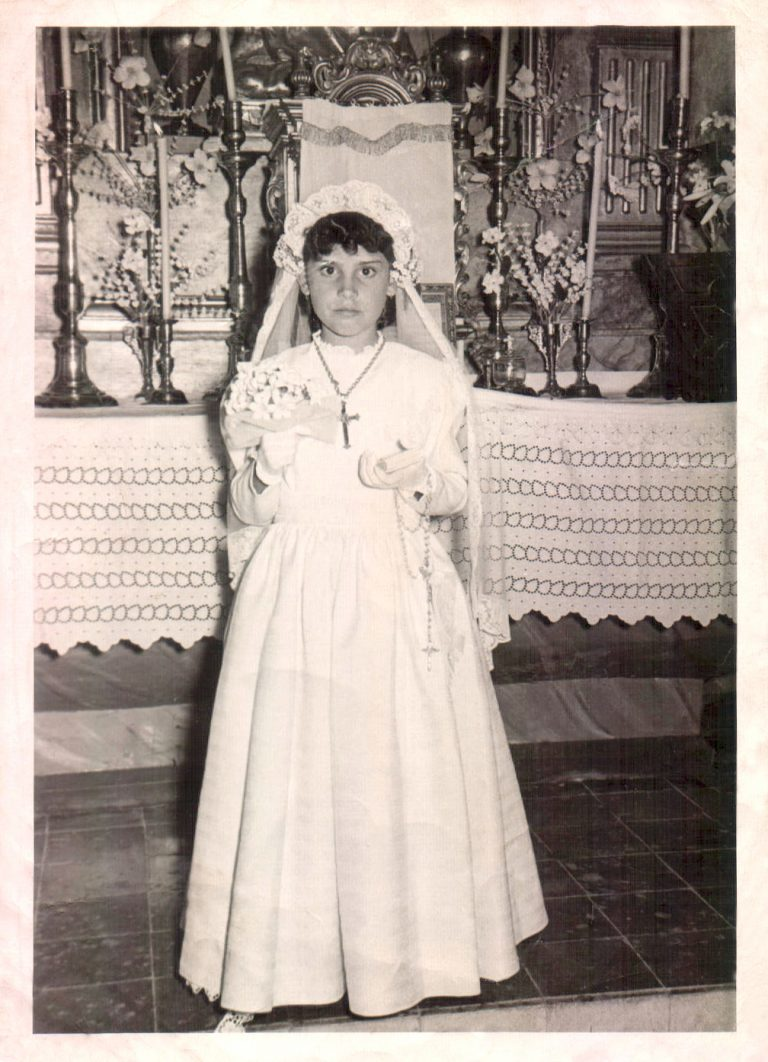 Nina de comunió (Huelva) 1955