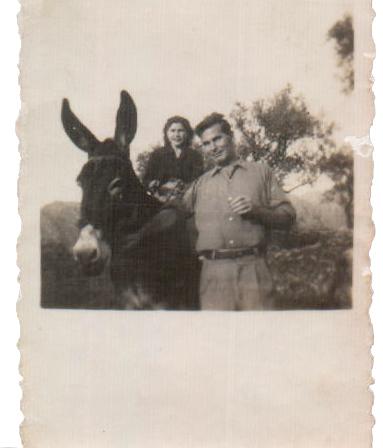 PAREJA EN BURRO - 1940