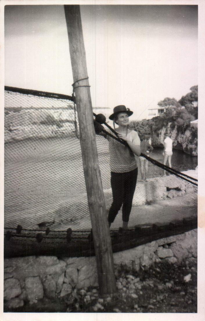 En el puente (Cala Figuera) 1962